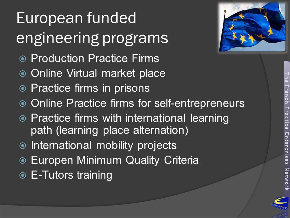 European funded engineering programs