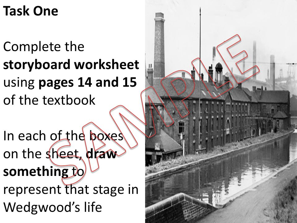 Task One Complete the storyboard worksheet using pages 14 and 15 of the textbook.