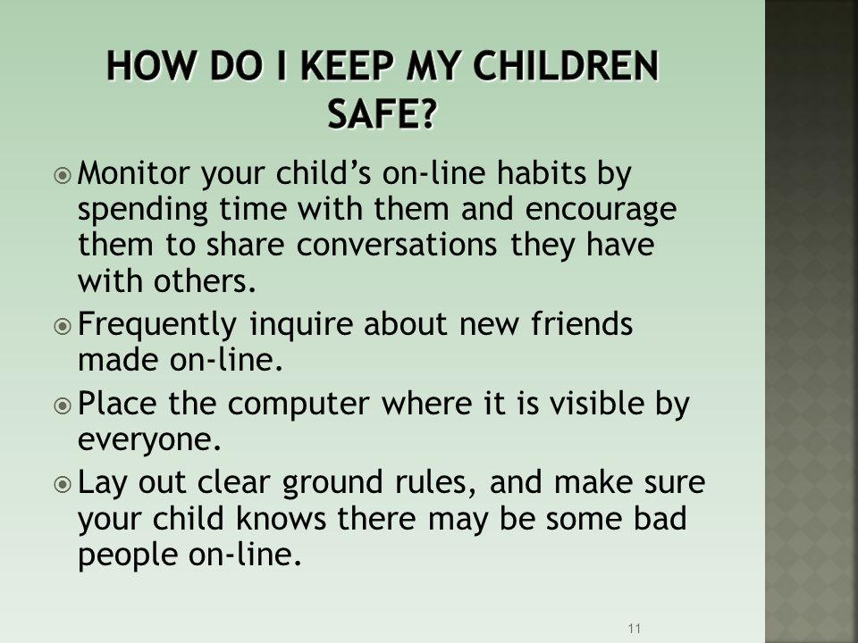 How do I keep my children safe