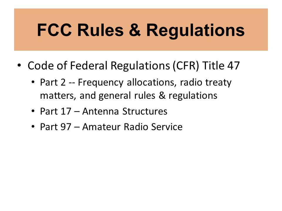 FCC Rules & Regulations