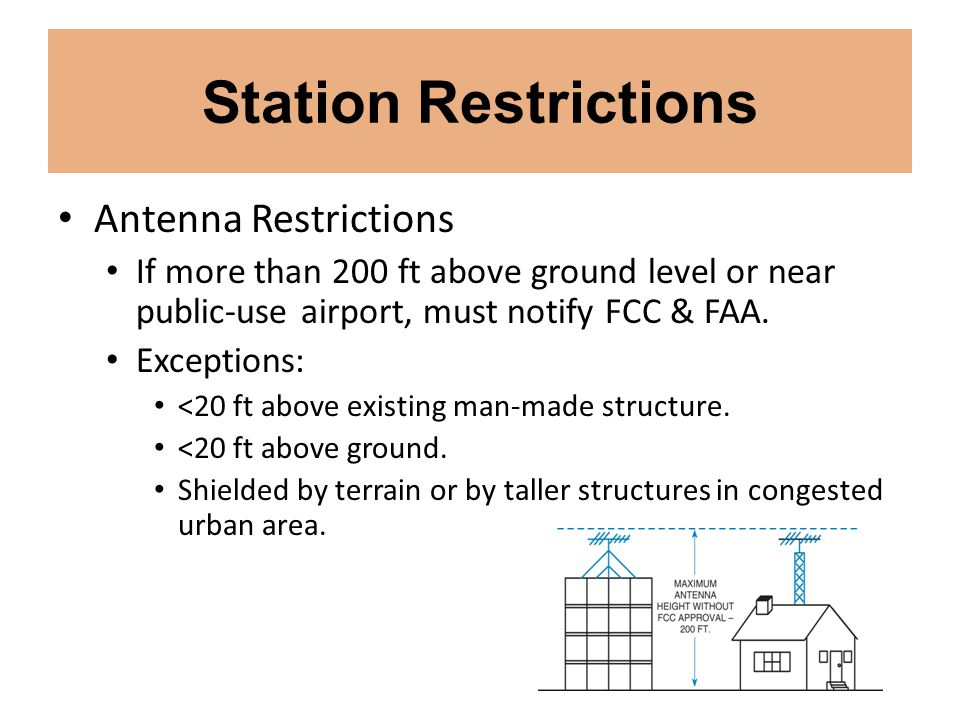 Station Restrictions Antenna Restrictions