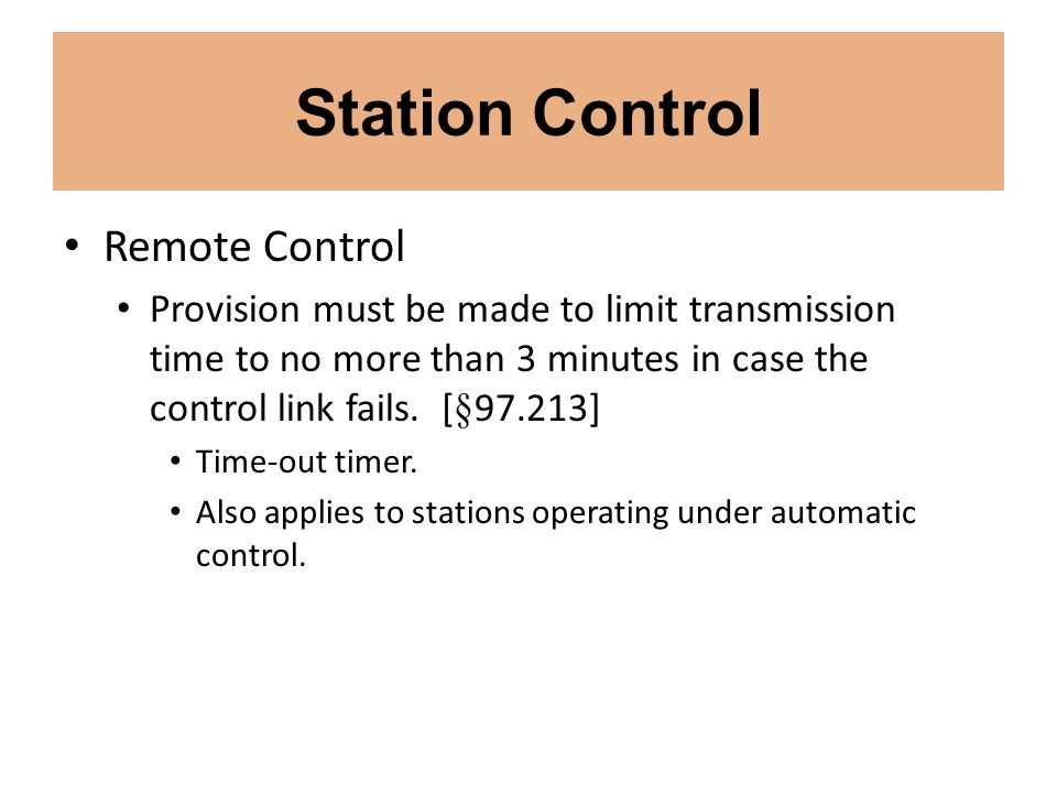 Station Control Remote Control