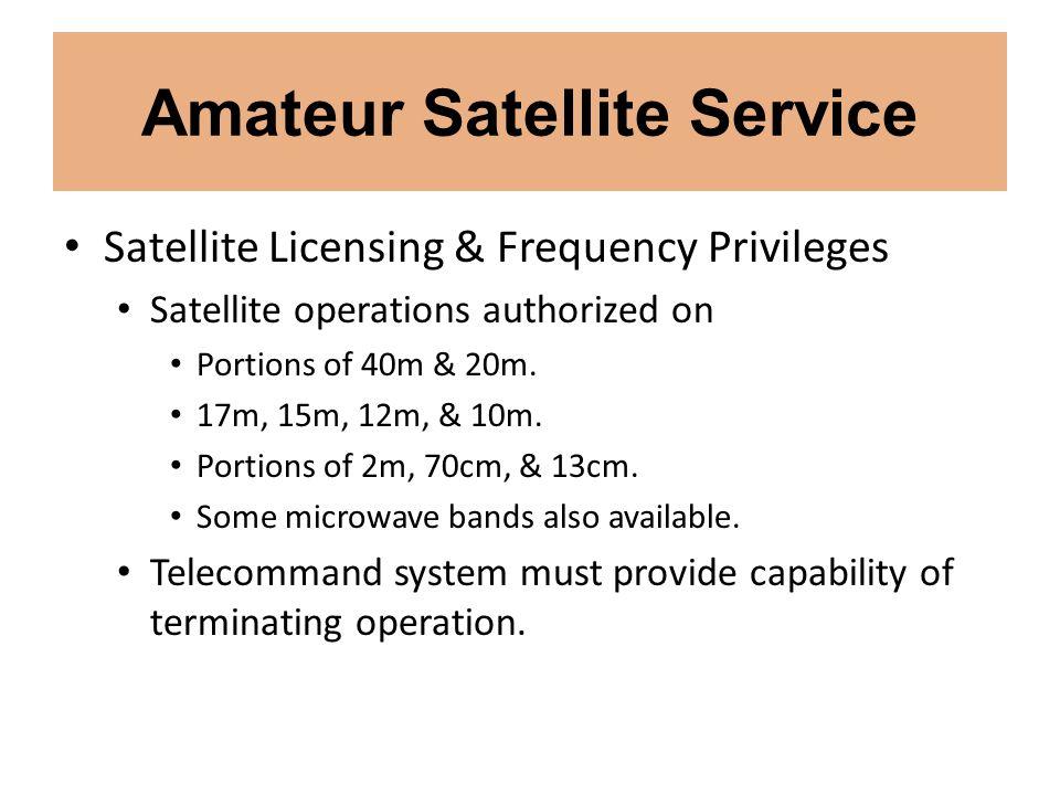 Amateur Satellite Service