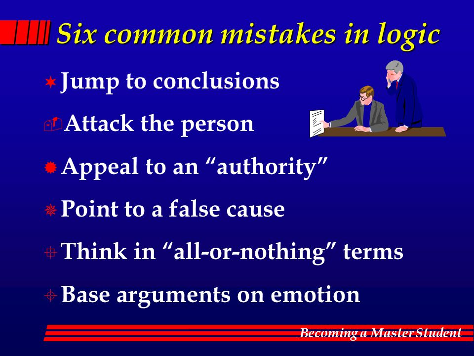 Six common mistakes in logic
