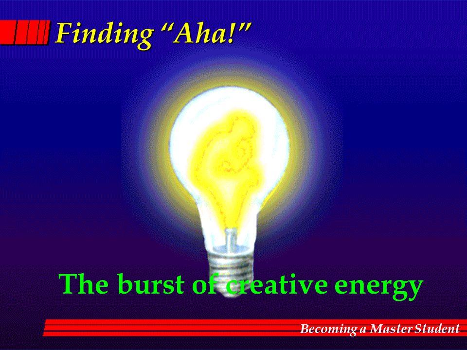 The burst of creative energy