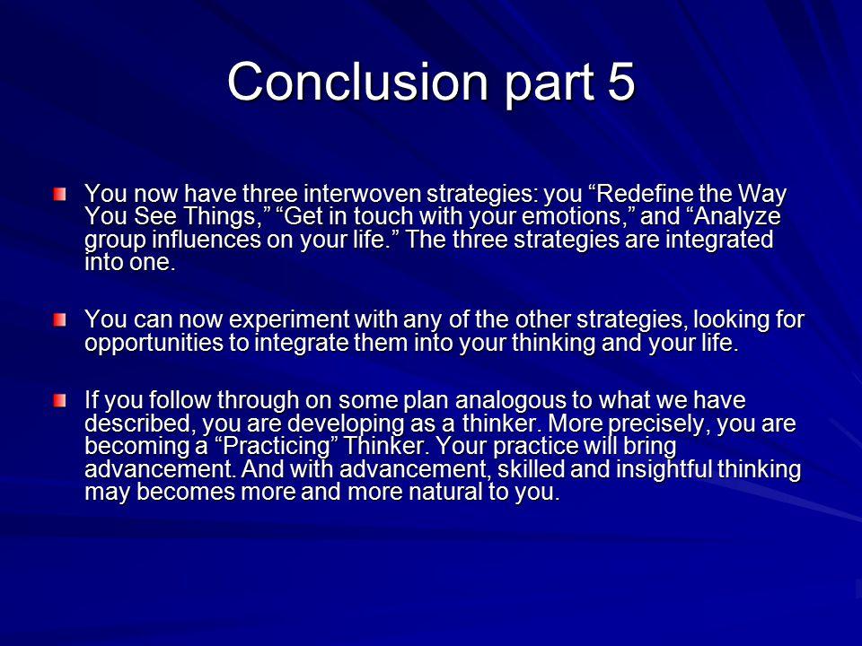 Conclusion part 5