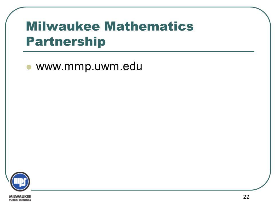 Milwaukee Mathematics Partnership
