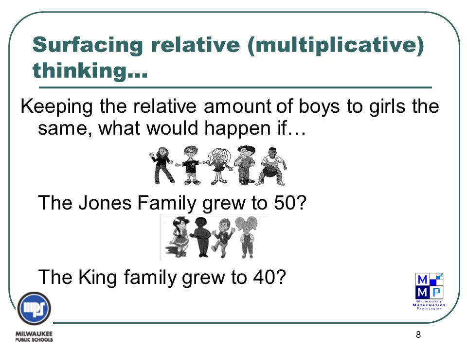 Surfacing relative (multiplicative) thinking…