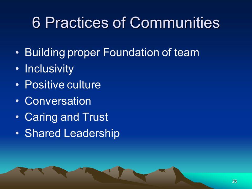 6 Practices of Communities