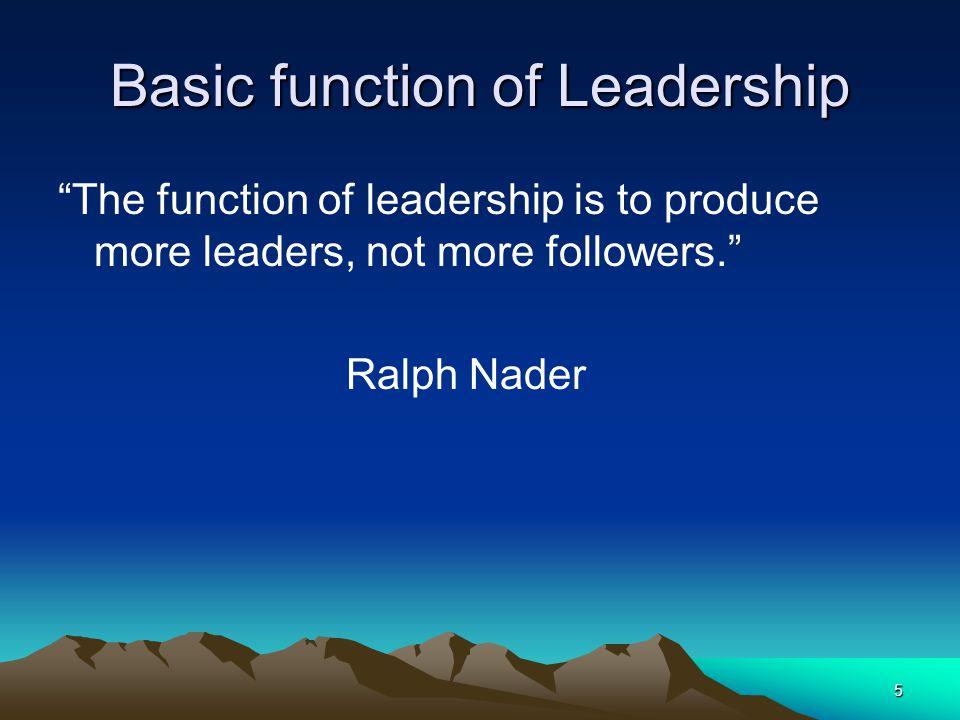 Basic function of Leadership