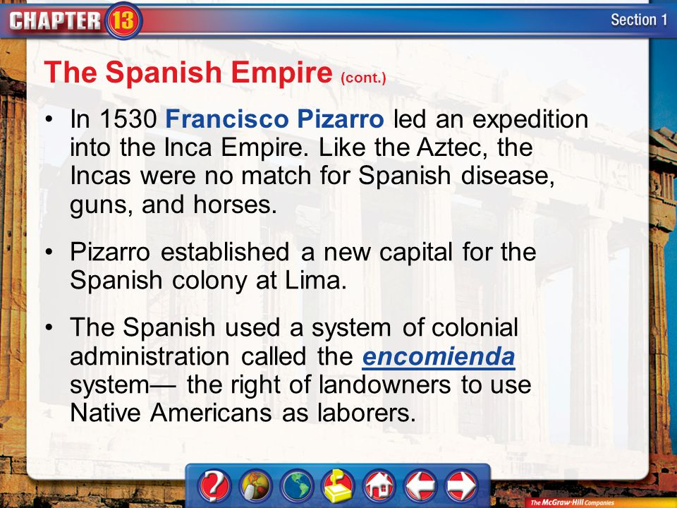 The Spanish Empire (cont.)