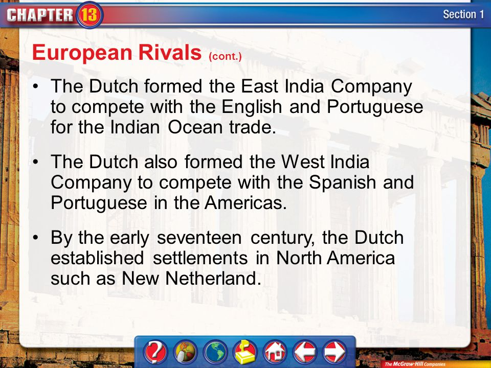 European Rivals (cont.)