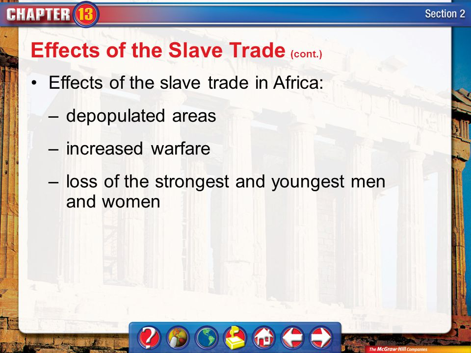 Effects of the Slave Trade (cont.)