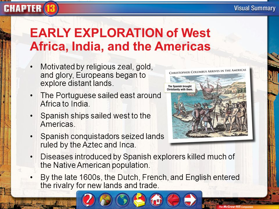 EARLY EXPLORATION of West Africa, India, and the Americas