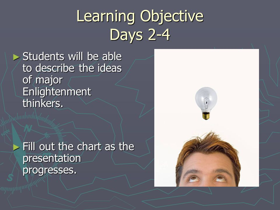 Learning Objective Days 2-4