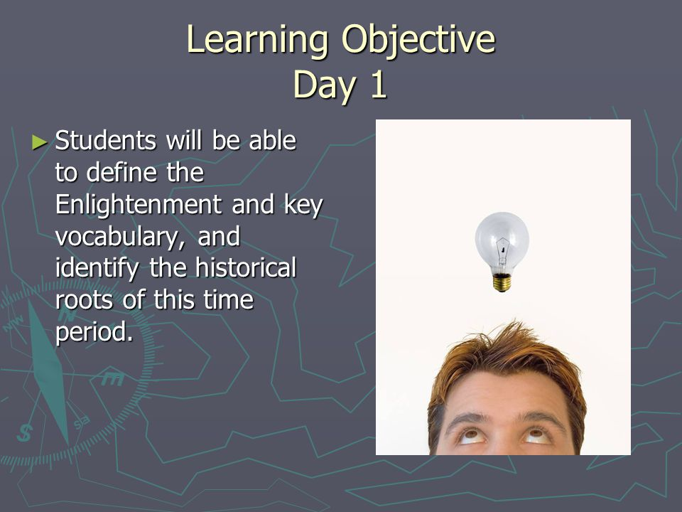 Learning Objective Day 1