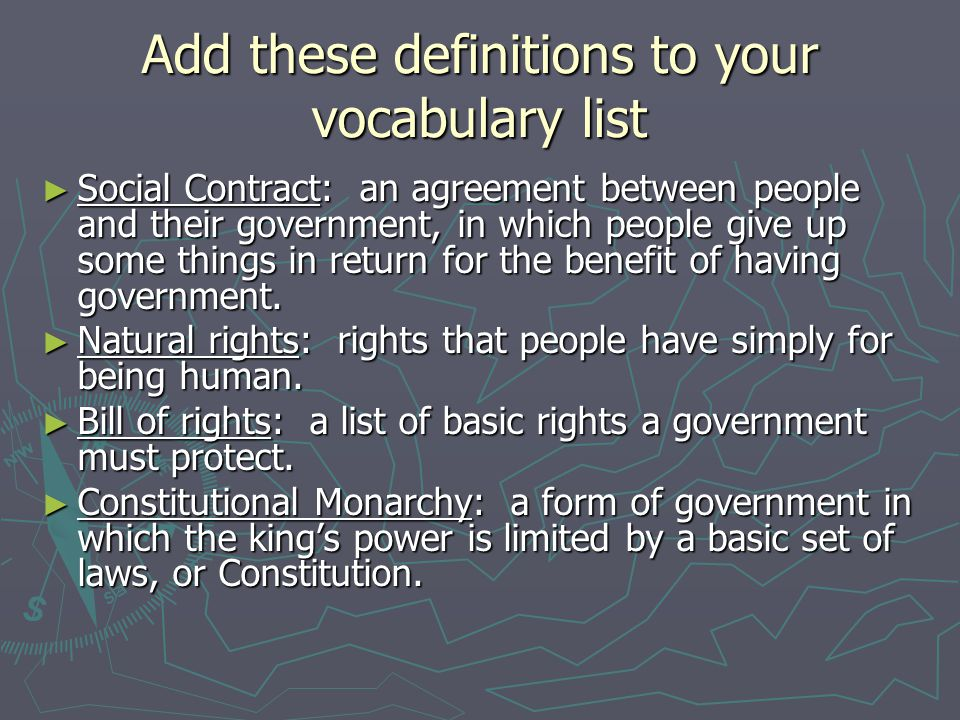 Add these definitions to your vocabulary list