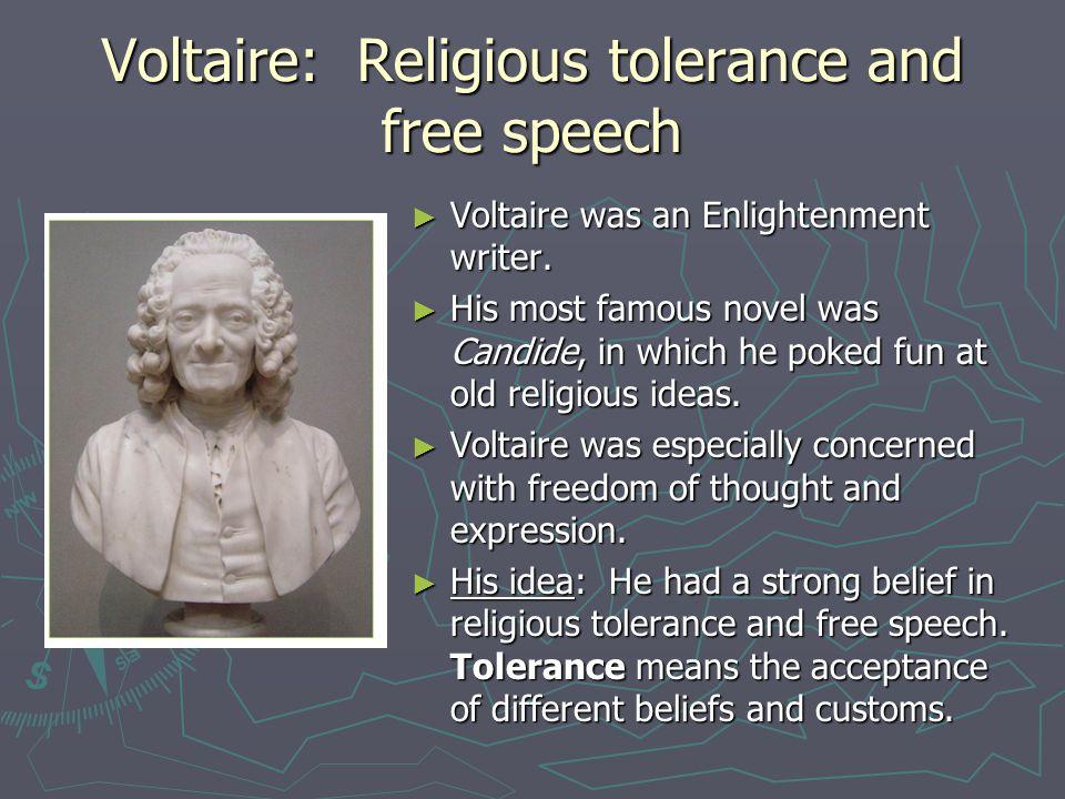 Voltaire: Religious tolerance and free speech