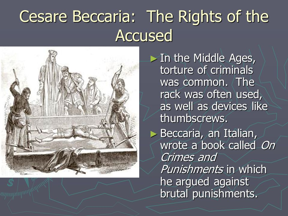 the opinions about the death penalty in beccarias on crimes and punishments Is capital punishment the solution should it be abolished death penalty pros and cons debate and poll harsh punishments, human rights and crime.
