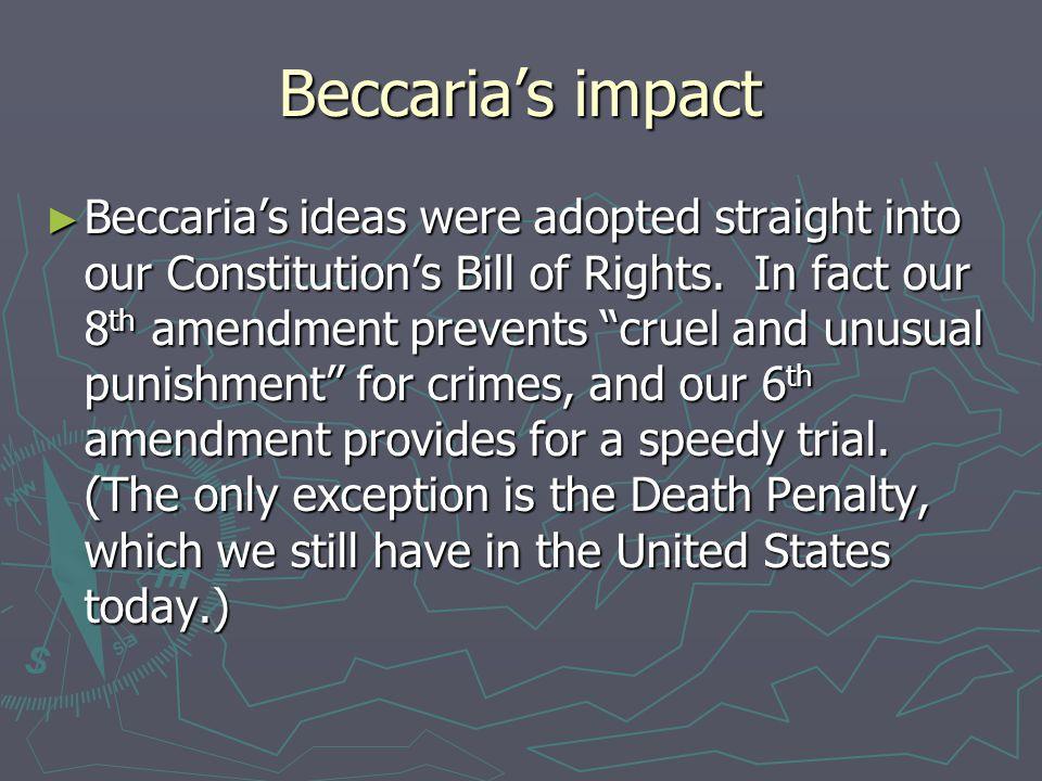 Beccaria's impact