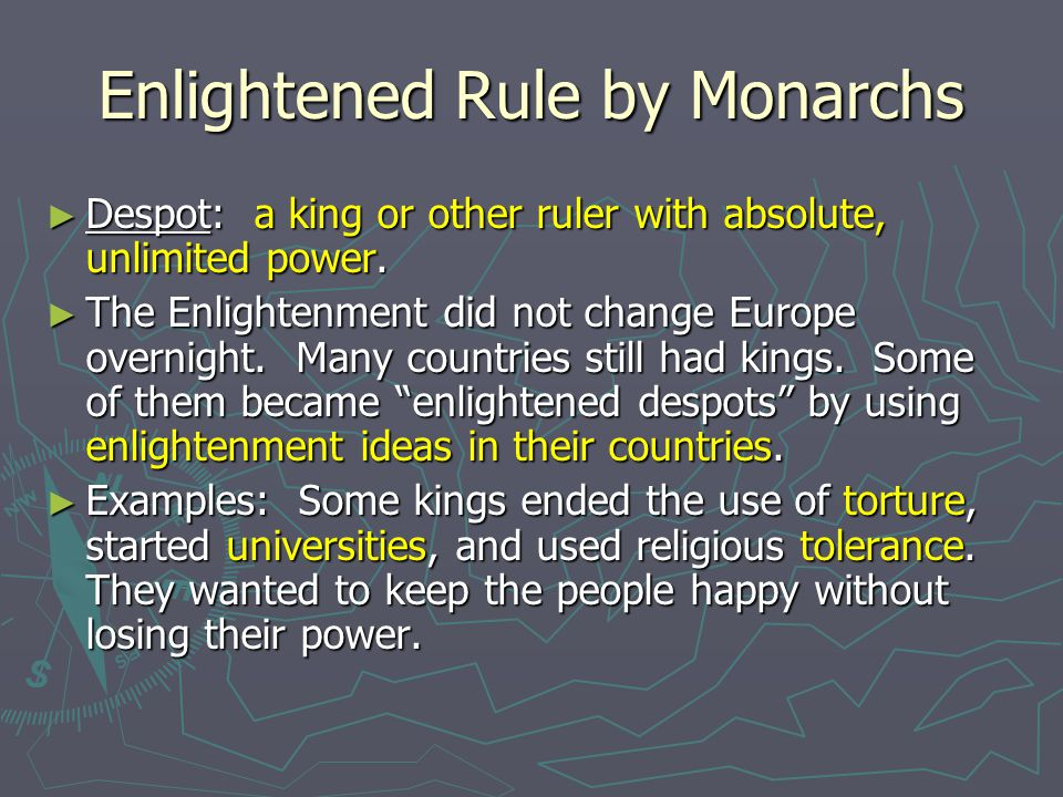 Enlightened Rule by Monarchs
