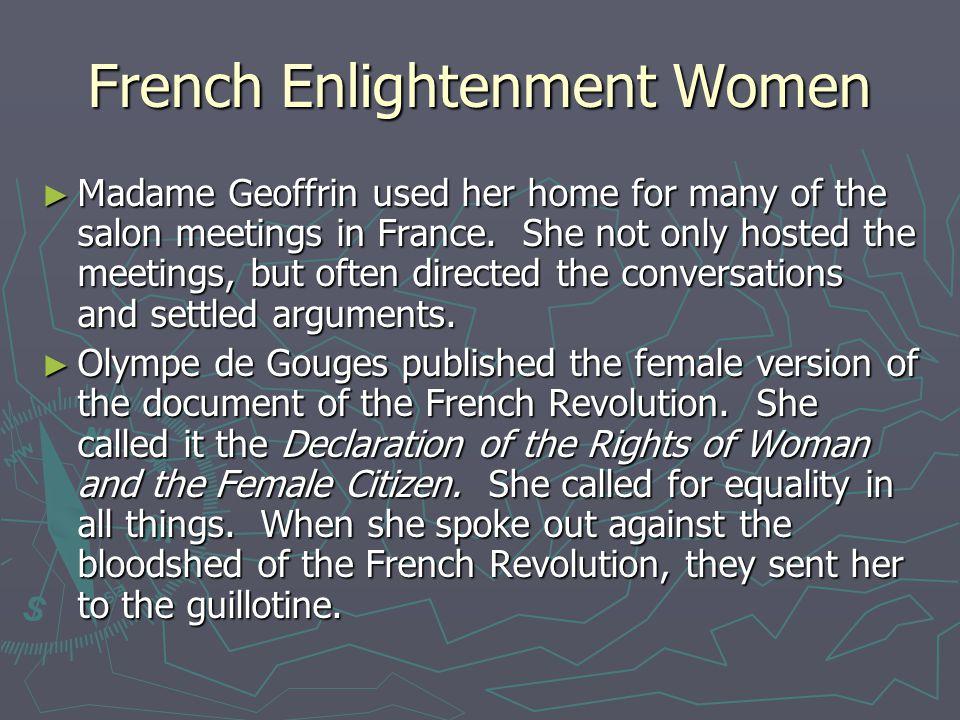French Enlightenment Women
