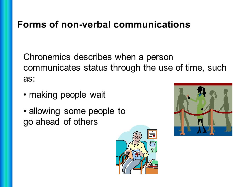 Forms of non-verbal communications