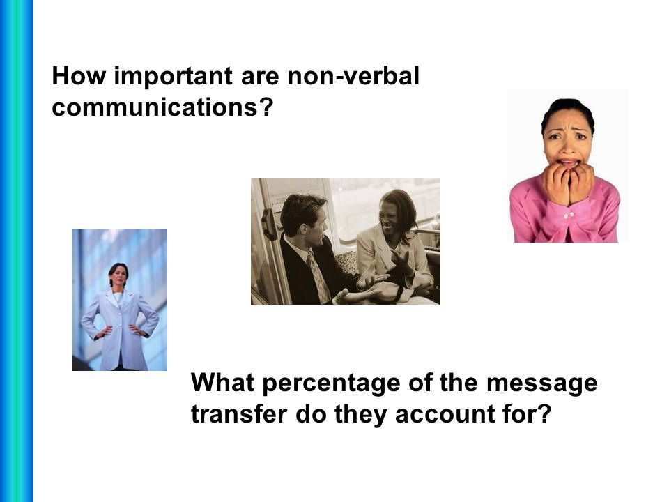 How important are non-verbal communications