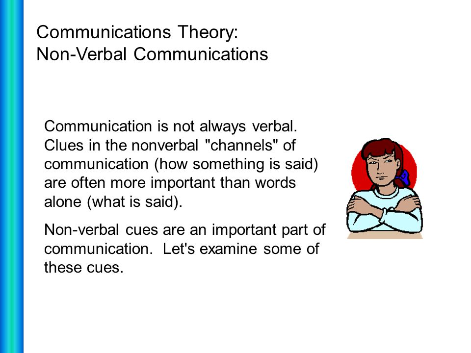 Communications Theory: Non-Verbal Communications