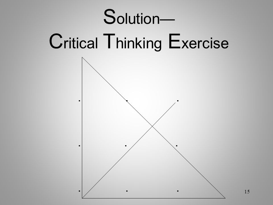 Solution— Critical Thinking Exercise