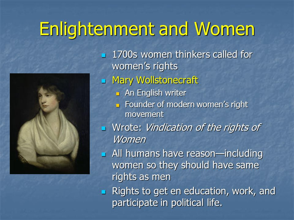 Enlightenment and Women