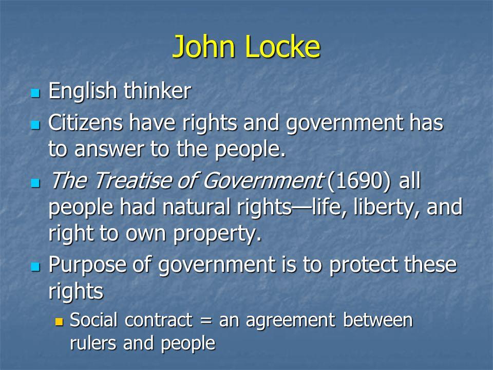 John Locke English thinker