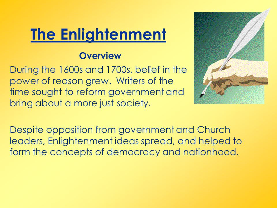 The Enlightenment Overview