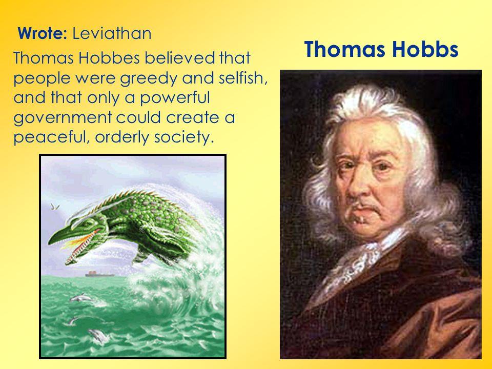 Thomas Hobbs Wrote: Leviathan