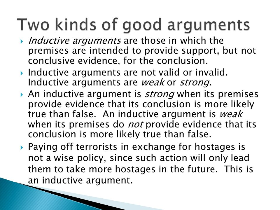 Two kinds of good arguments