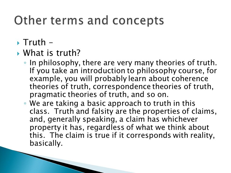 Other terms and concepts