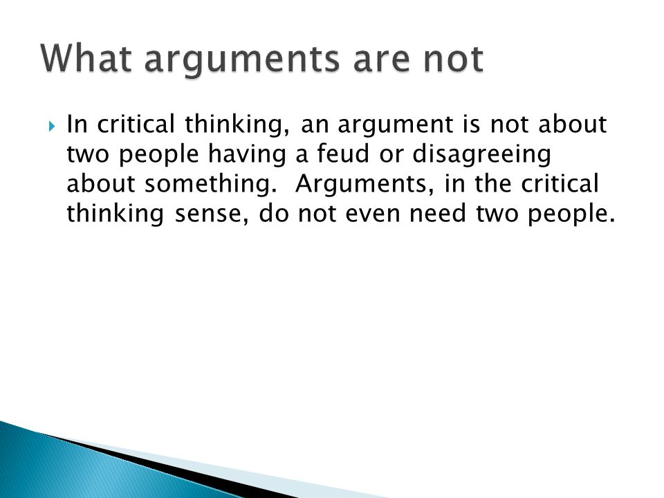 What arguments are not