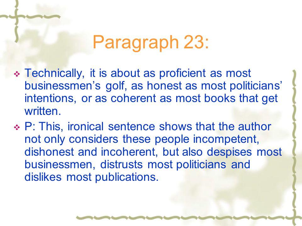 Paragraph 23: