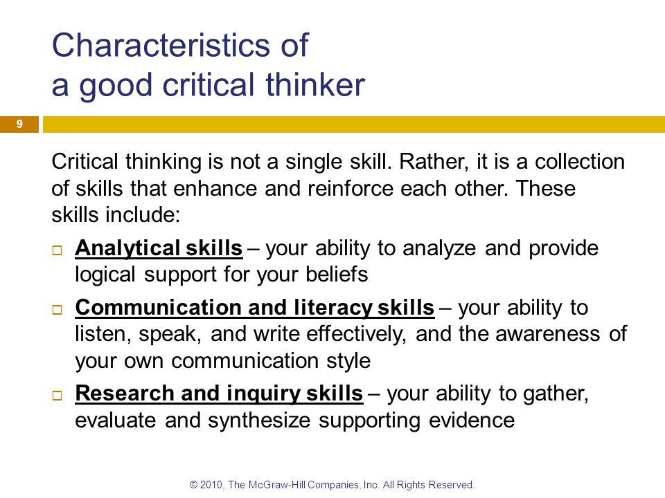 list of basic critical thinking skills