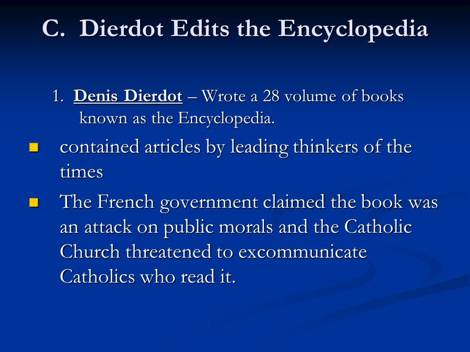 C. Dierdot Edits the Encyclopedia