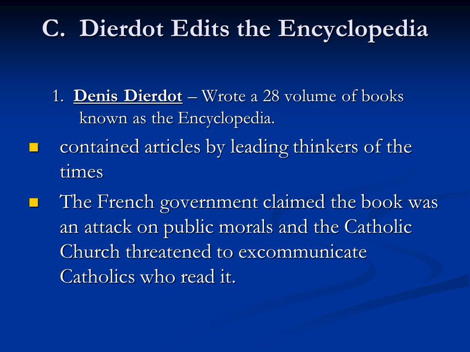 C. Dierdot Edits the Encyclopedia