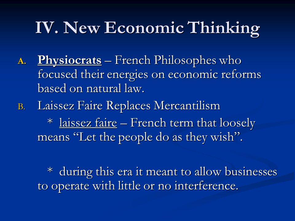 IV. New Economic Thinking