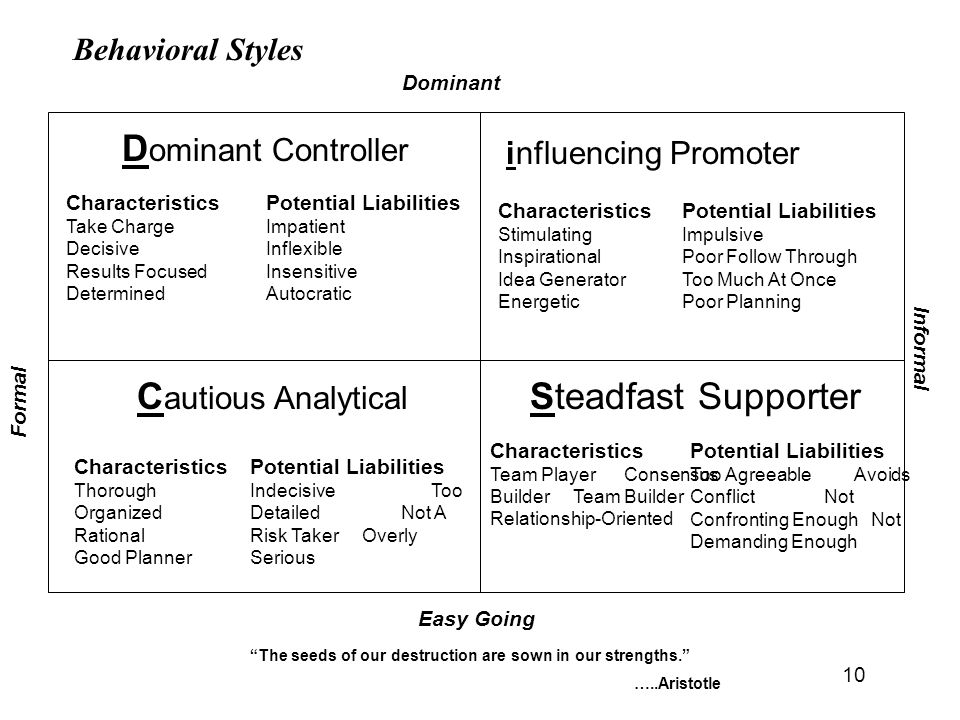 Dominant Controller Cautious Analytical Steadfast Supporter
