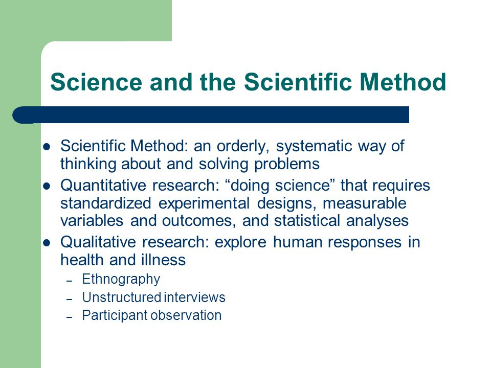 Science and the Scientific Method