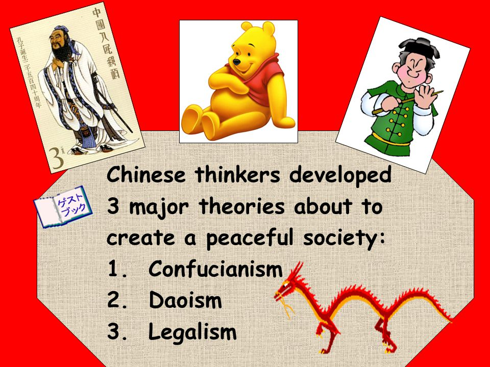Chinese thinkers developed