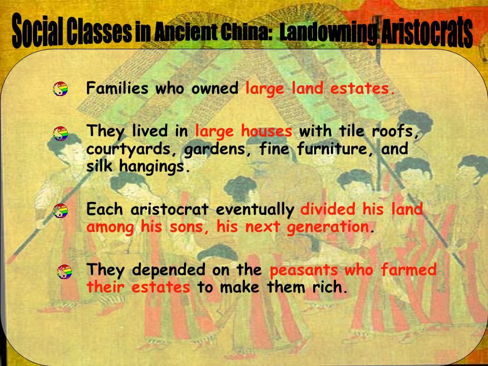 Social Classes in Ancient China: Landowning Aristocrats