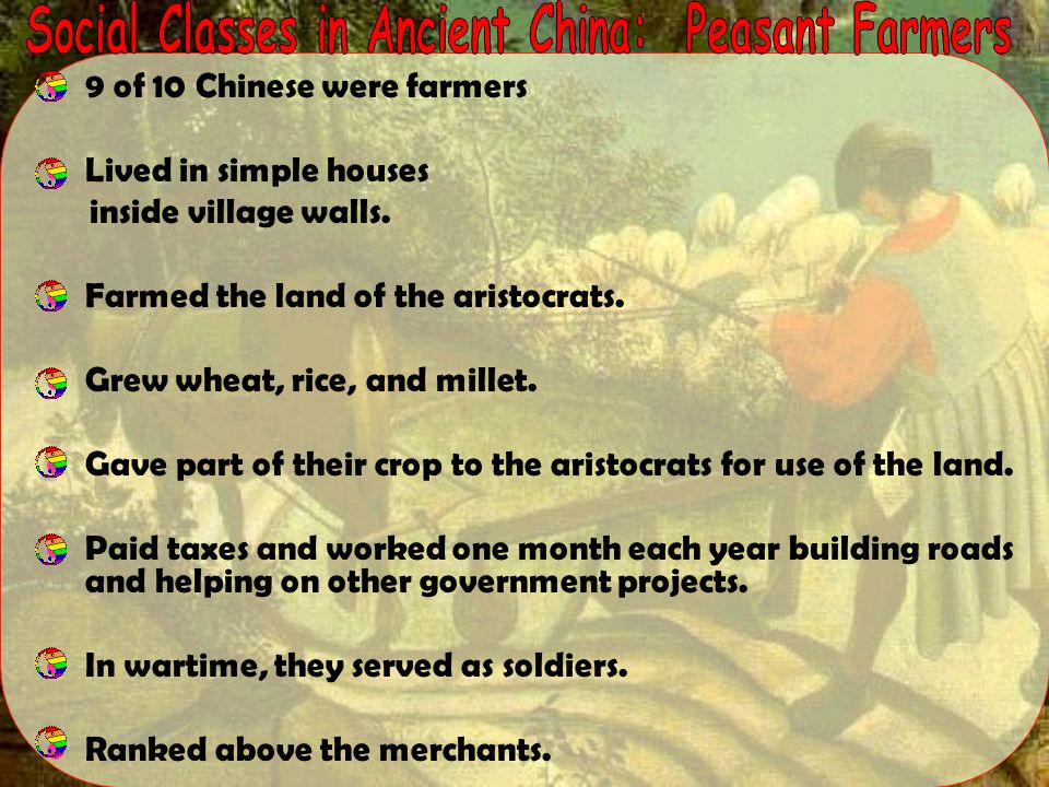 Social Classes in Ancient China: Peasant Farmers