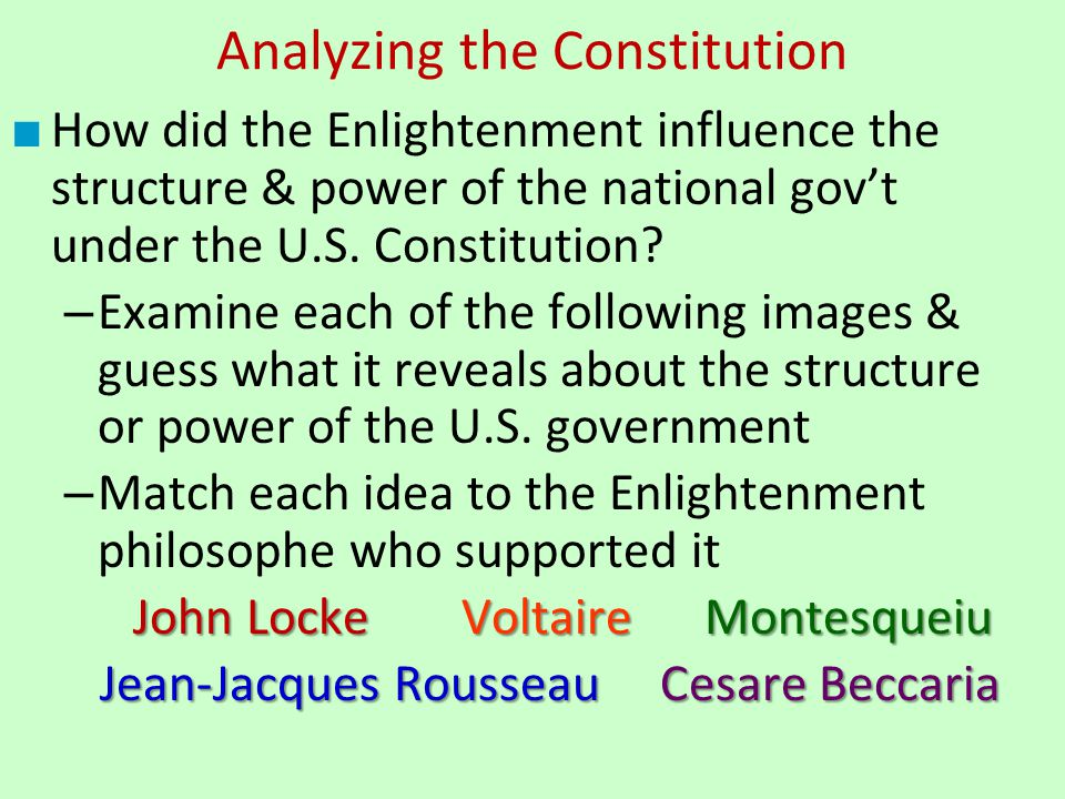 Analyzing the Constitution