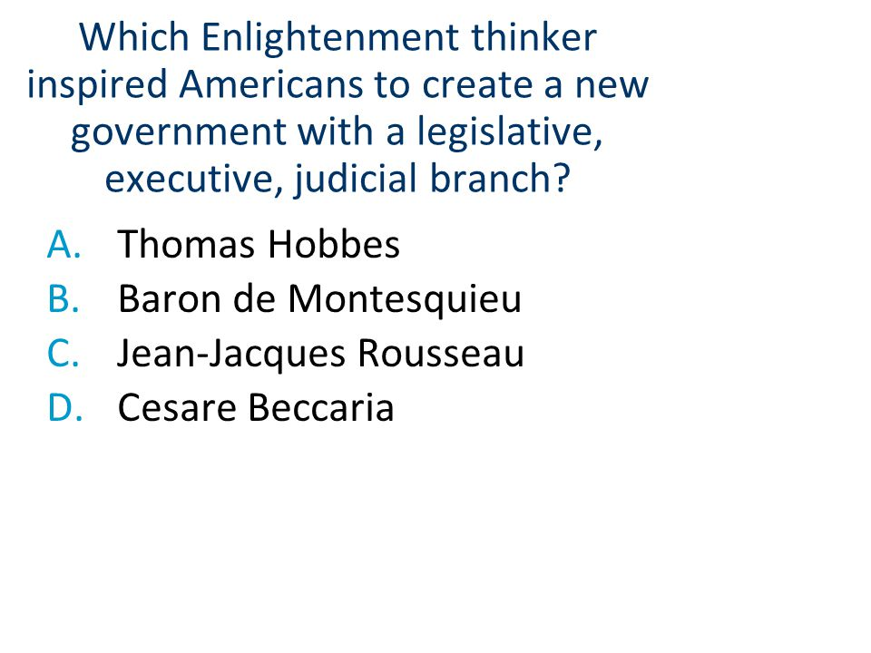 Jean-Jacques Rousseau Cesare Beccaria