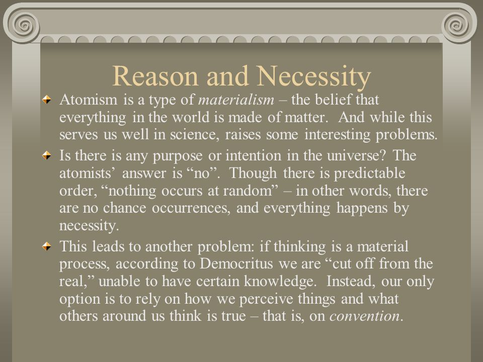 Reason and Necessity